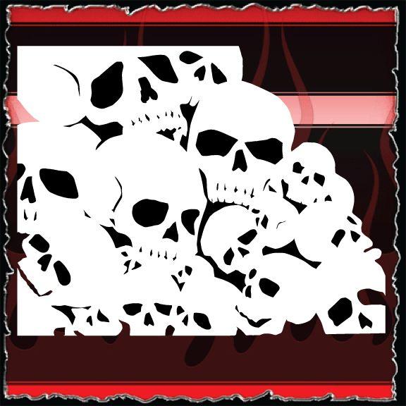 15.00 : Airbrush Stencils Store, Air Brushing Stencils Store Skull ...