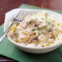 Slow Cooked Chicken Stroganoff