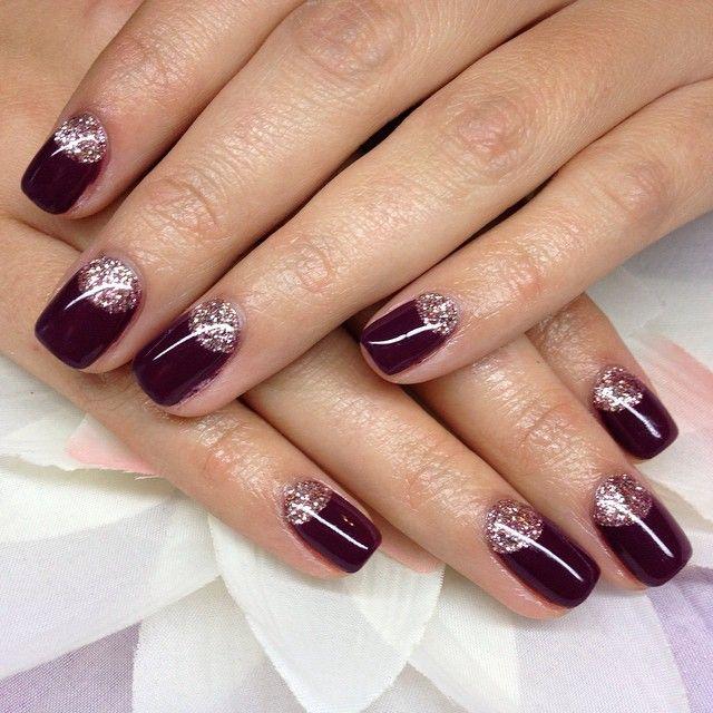 """18 Likes, 1 Comments - Nails By Catrina! (@nails.by.catrina) on Instagram: """"#nailsbycatrina #gelnails #purplenails #goldnails"""""""