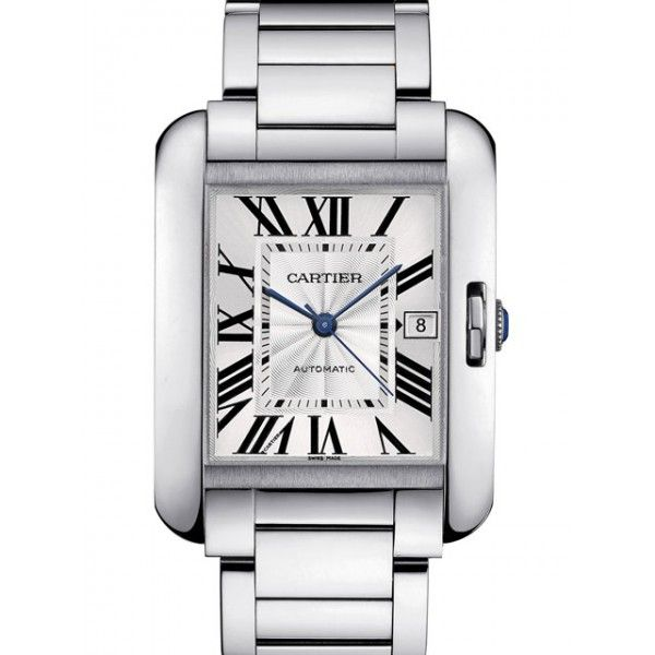 c2fc46b4b8390 Relógio Cartier™ – Tank Anglaise Grand – Prata – Réplica Premium AAA+