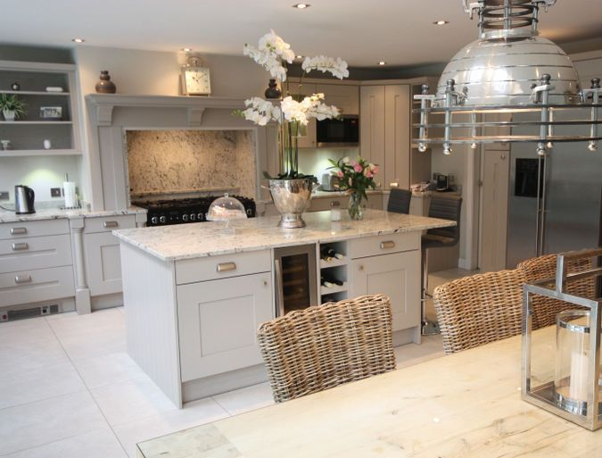 Stunning Langham Painted kitchen by Second Nature retailer Shepherds of Cheshire @shepherdcheadle More on this project - http://www.sncollection.co.uk/real-kitchens/real-kitchen-projects/langham-painted-shepherds-of-cheshire.html
