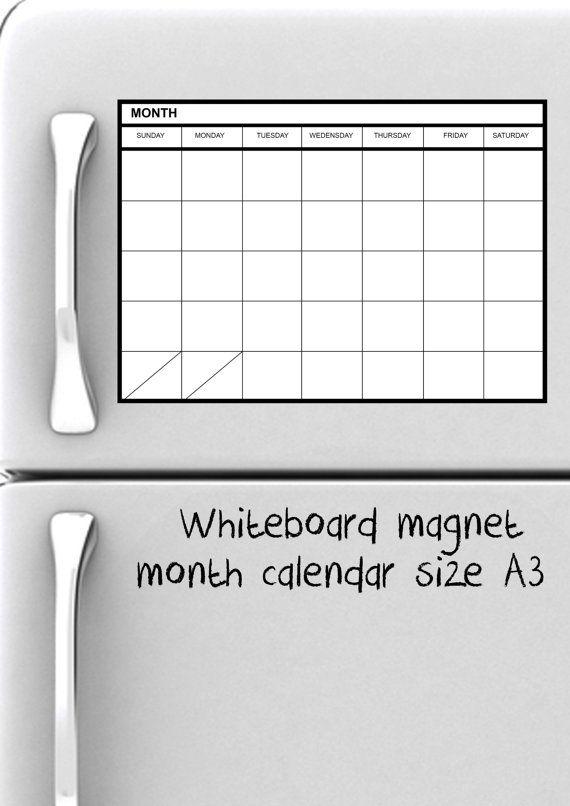570 x 806 jpeg 43kB, WhiteBoard Magnet Monthly Planner calendar size ...
