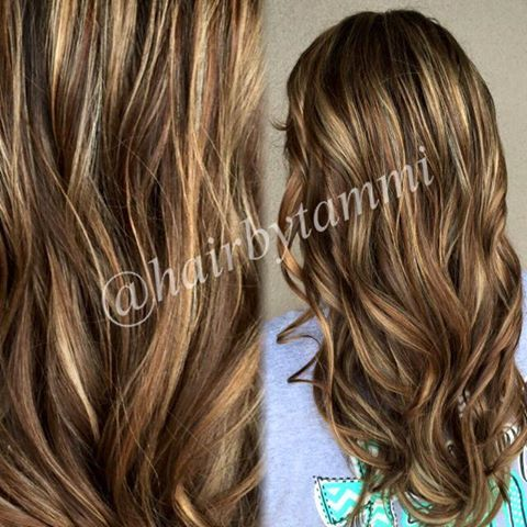 light brown hair color with dark brown underneath dark