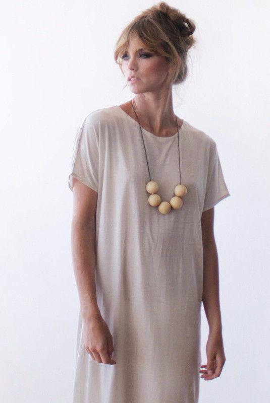 Casual cream midi length dress SALE