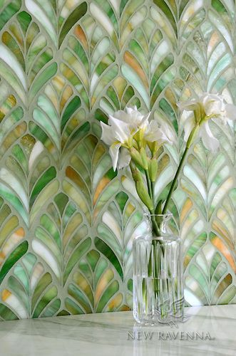 Margot Mosaic Backsplash | New Ravenna Mosaics An art deco vibe...