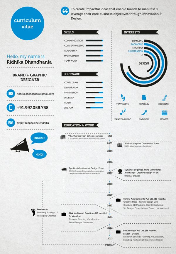 43 best Creative Resumes images on Pinterest Creative resume - different types of resumes