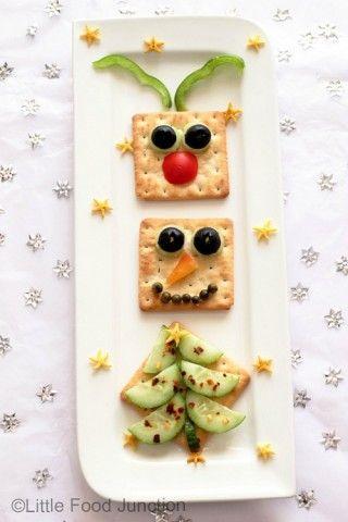 cracker snacks 320x480 Comidas saludables y creativas para Navidad