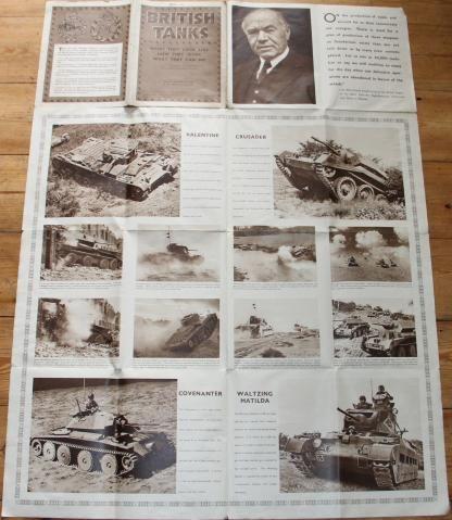 WW2 BRITISH TANKS POSTER