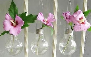 Incandescent Bulb Vases..  I like these.