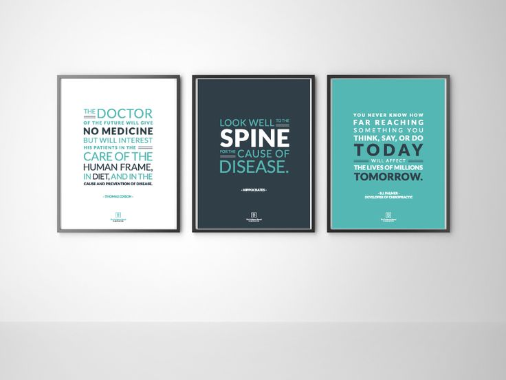 Set of 3 Chiropractic Office Prints — The Evidence Based Chiropractor- Marketing Chiropractic to Medical Doctors