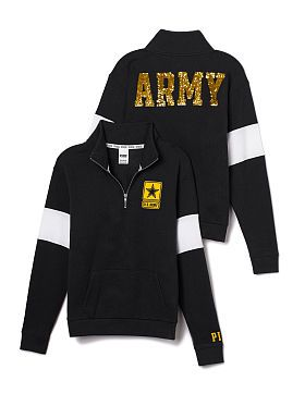 PINK:PCC BLG 1/2 ZIP i actually like this especially since in class we were talking about the army.
