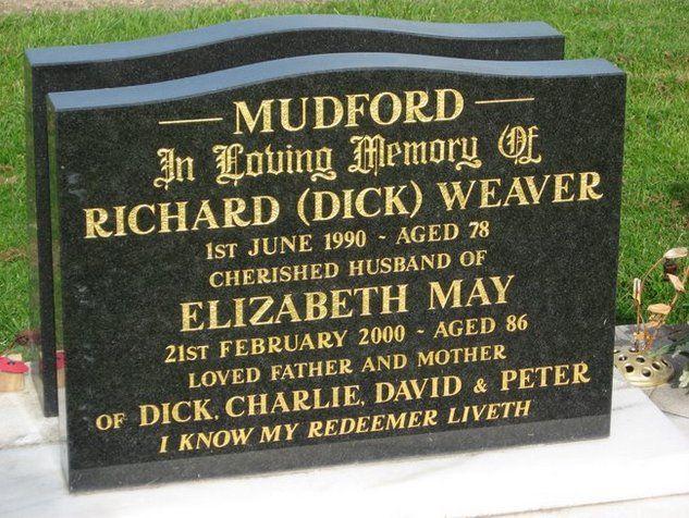 Richard Weaver Mudford (1911 - 1990) - Find A Grave Photos