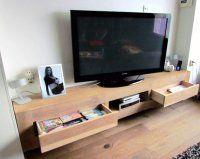 Eiken tv-meubel tv-kast eikenhout laden zwevend