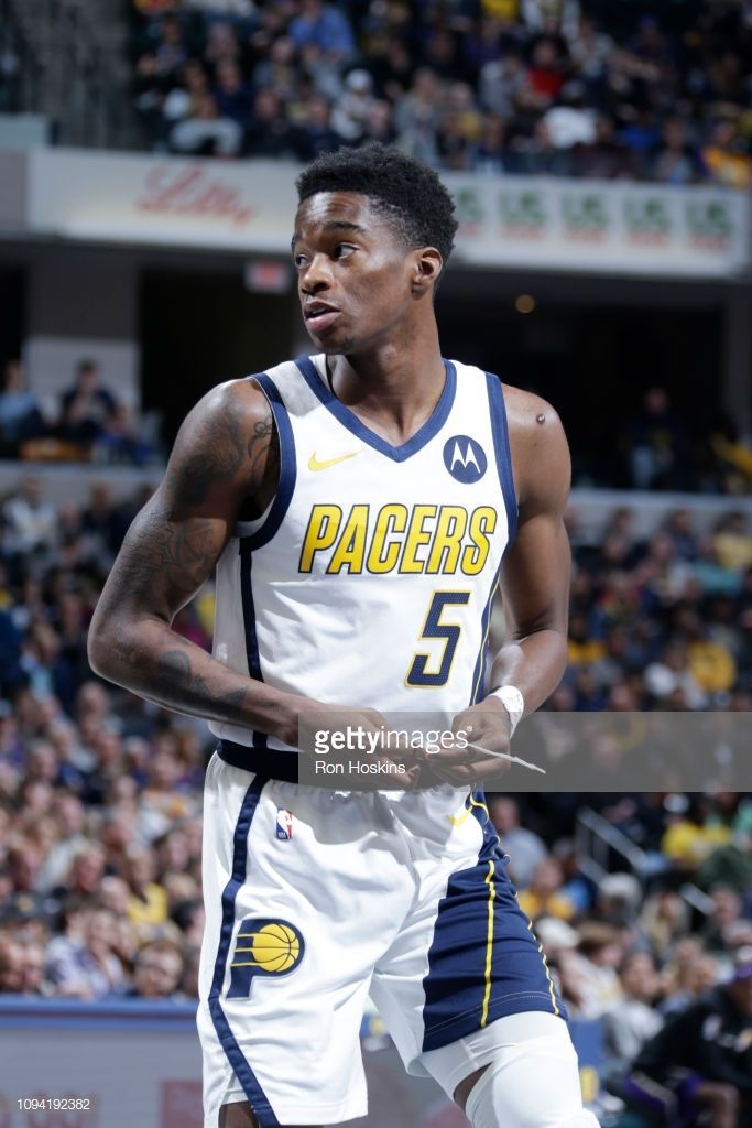 Edmond Sumner Of The Indiana Pacers Looks On During The Game Against Indiana Pacers Kobe Bryant Lebron James Indiana Pacers Players