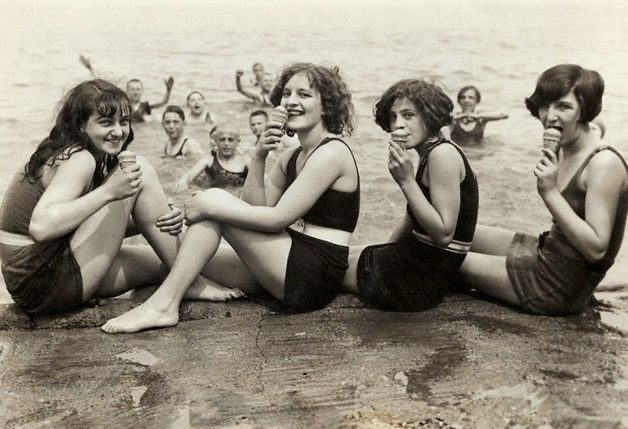 Just south of Oak Street Beach, 1923, Chicago.