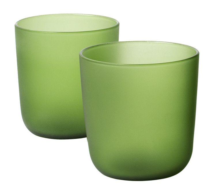 Bicchiere Goro Verde design Massimo Barbierato for internoitaliano