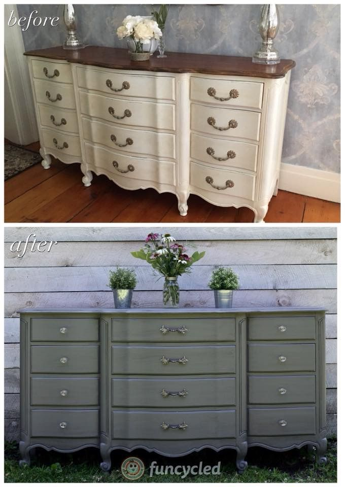 Gray French Provincial Buffet Makeover French Provincial Dresser