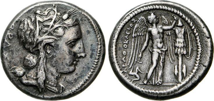 NumisBids: Numismatica Varesi s.a.s. Auction 65, Lot 14 : SICILIA - SYRACUSAE - AGATHOKLES (317-289 a.C.) Tetradramma. D/...