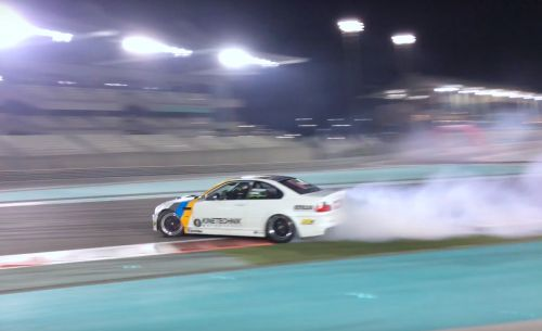 V10-Powered BMW E46 Drifts and Sings at Yas Marina Should Win a Grammy