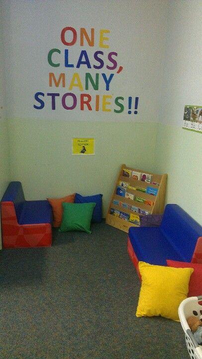 Reading corner for autism preschool classroom