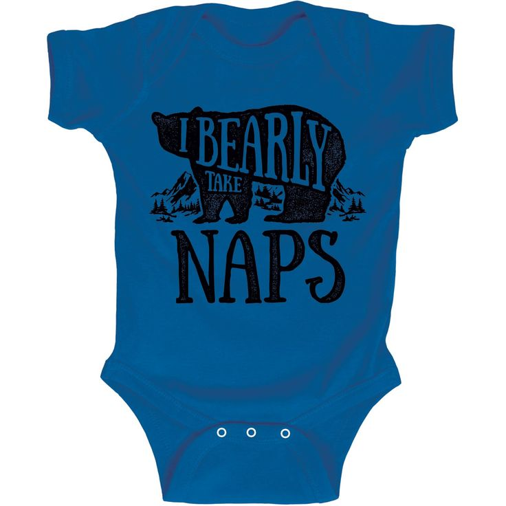 I Bearly Take Naps Camping Pun Infant One Piece