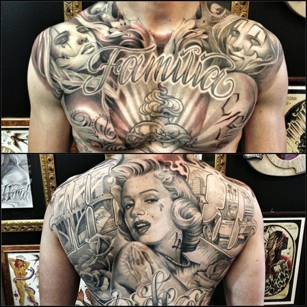 387 best images about chest piece tattoos on pinterest for Back mural tattoos