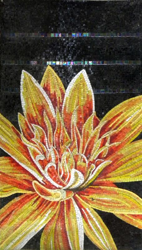 Art Décor: Mosaic Wall Art - Lotus Flower