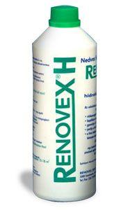 Renovex H Hidrofób Víztaszító, WTA minőségű cement-homok összetételű vakolathoz. Kül- és beltérre egyaránt;  elsősorban: homlokzatok, lábazatok, kerítések, műemlékek, vályogfalak felújító vakolására, szigetelés utáni falszárítás gyorsításához