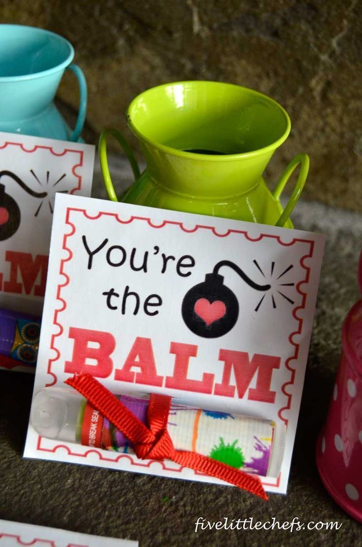 Free Valentines Day Printable. Great for friends and family! You're the balm! Use your favorite chapstick or lip balm for a fun gift.