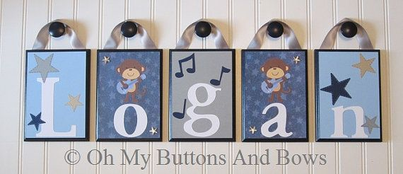 Crib Name Letters . Children's Name Letters by OhMyButtonsAndBows