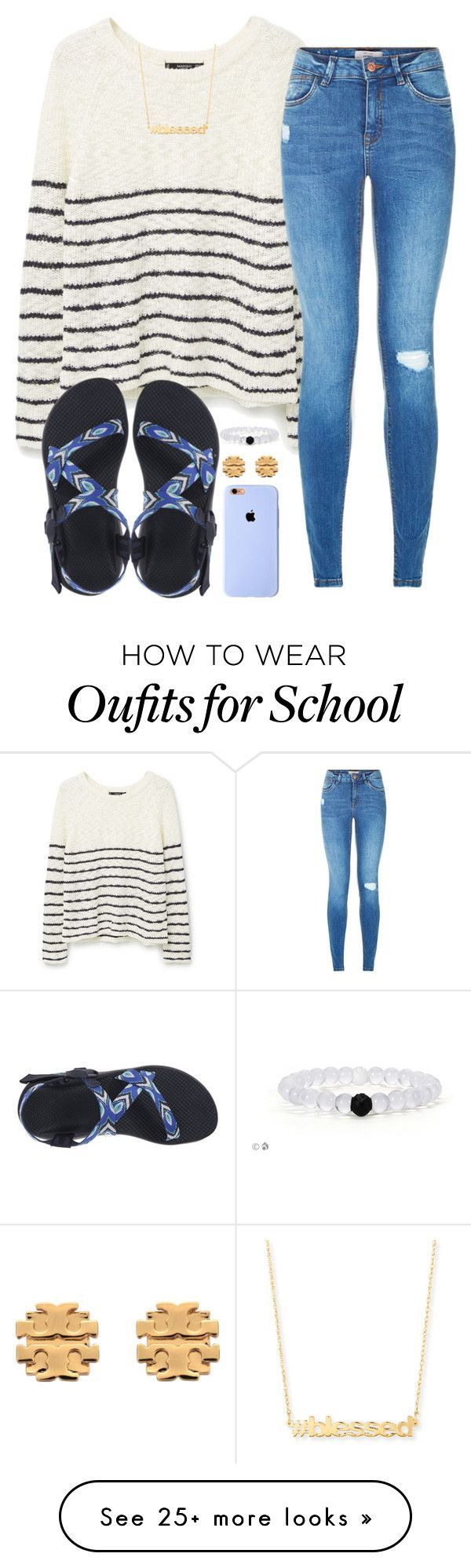there were three fights today at school... by madiweeksss on Polyvore featuring MANGO, Chaco, Jennifer Zeuner and Tory Burch