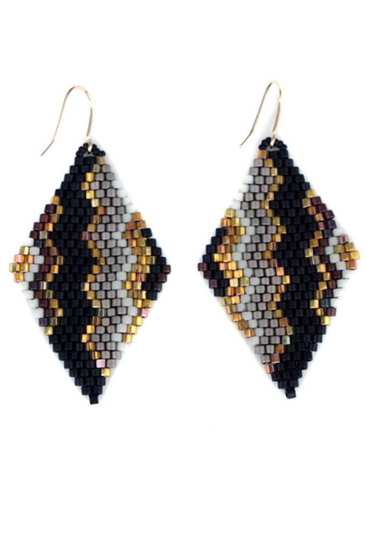Zigzag Drop Earrings - main
