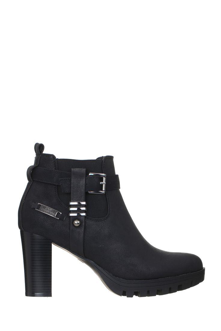 Boots noires cuir Ceta Best Mountain sur MonShowroom.com