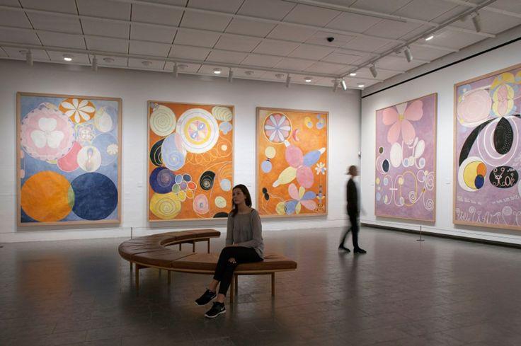 Vista de la exposición Hilma af Klint: Pionera de la abstracción. Foto: Poul Buchard / Brøndum & Co. Cortesía: Louisiana Museum of Modern Art
