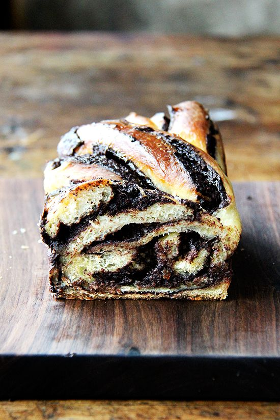Chocolate-Orange Babka — a braided Jewish bread that's similar to filled challah