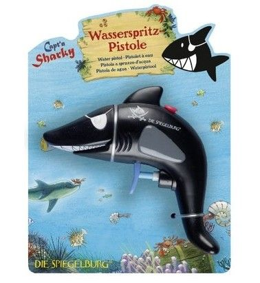 Capt'n Sharky - Water Pistol  Wow Capt'n Sharky, a fish out of water! This would entertain the boys for hours in summer, and also works as a great bath toy!   #raisingboys #EntropyWishList  #PinToWin