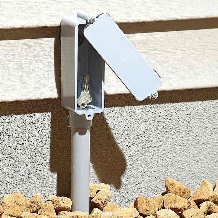 Hide a Key In Plain Sight - 13 Secret Hiding Places: http://www.familyhandyman.com/home-security/20-secret-hiding-places#12