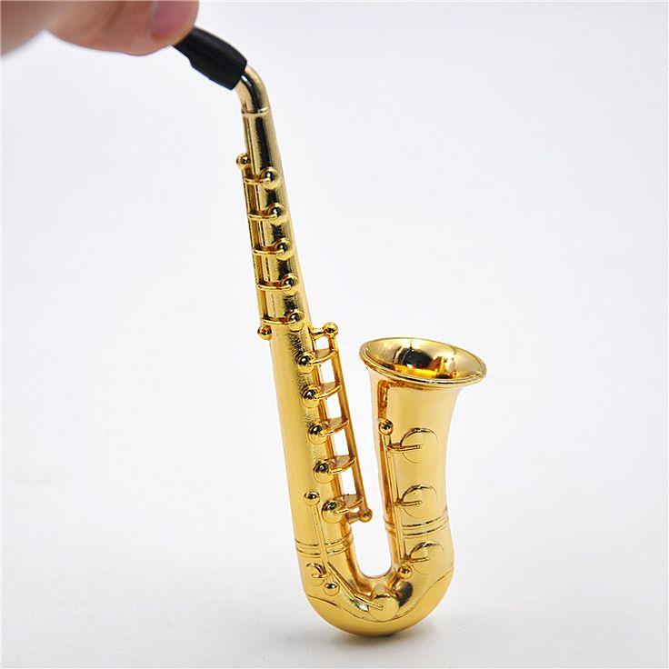 Два Стиля Малый/Большой 1X Регги Саксофон Образный Металлический Курительная трубка. цвет Случайный