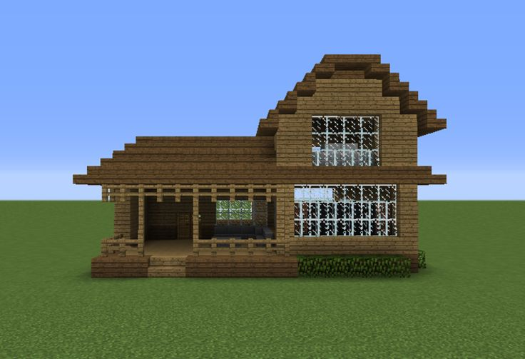 Wooden House 16 - GrabCraft - Your number one source for MineCraft buildings, blueprints, tips, ideas, floorplans!