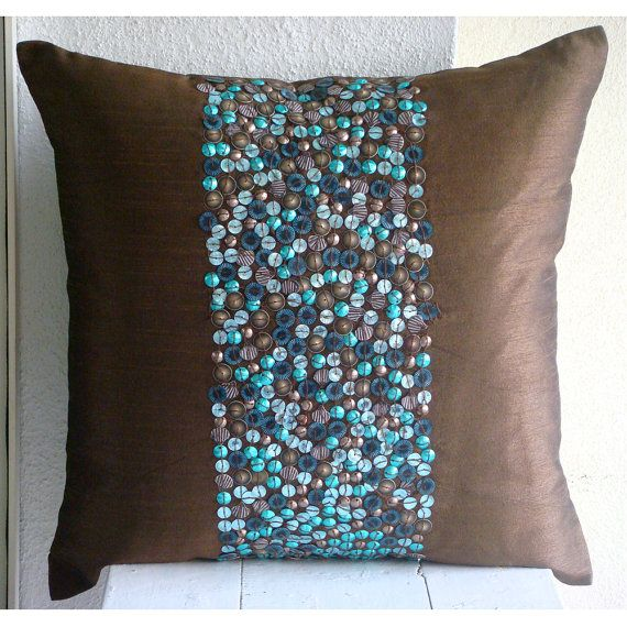 Kirklands Throw Pillow Covers : 55 best Aqua/Brown Decor images on Pinterest Accent pillows, Throw pillow covers and Cushions