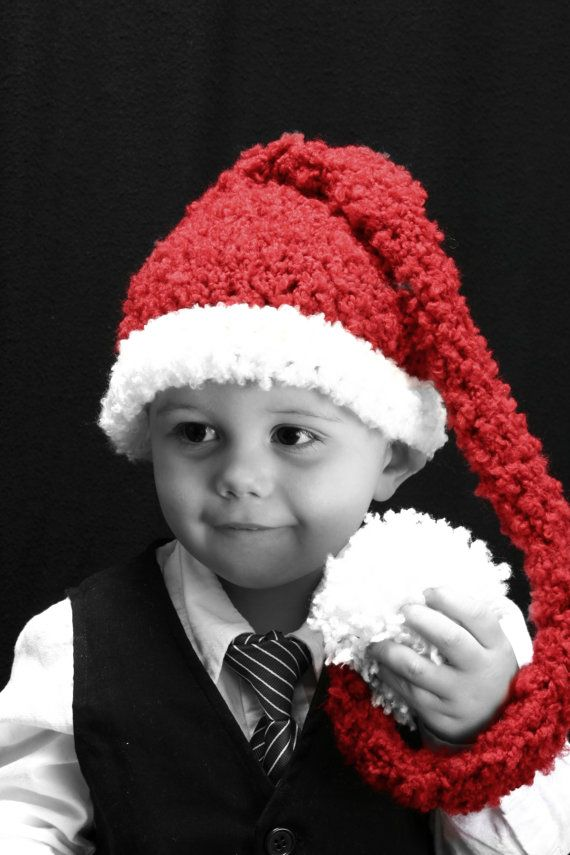 Christmas Red and White Santa Elf gnome Baby by CrosStitching, $23.00