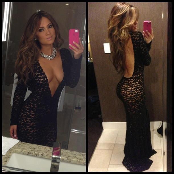 Black dress tight glute
