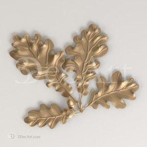 Rn_005 | 3D model of oak leaves
