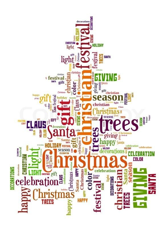 Christmas Word Cloud It S The Most Wonderful Time Of The