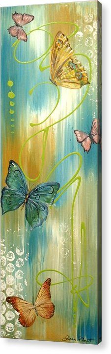 Butterfly Acrylic Print featuring the painting Butterfly Bliss 2 by Jean Plout