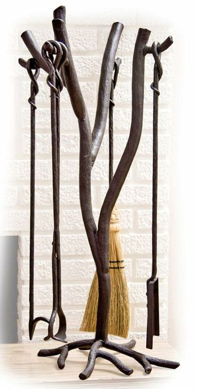 Fireplace tools and Wrought iron