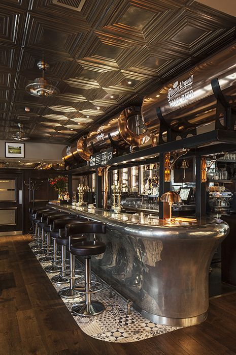 Galvin HOP, Spitalfields, restaurant interior design by DesignLSM. Photography (c) James French Photography