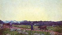 Alpine Triptych: Nature, 1898-99