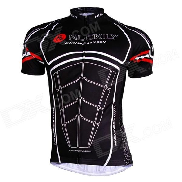 Brand: NUCKILY; Quantity: 1; Color: Black + white; Material: Dacron; Size: 2XL; Gender: Men's; Best use: cycling; Suitable for: Adults; Length: 73 cm; Sleeve Length: 38 cm; Shoulder Width: No cm; Chest Girth: 117 cm; Suitable for Height: 178~183 cm; Features: Ultrathin breathing coat for cycling; With anti-slip silicone band on the hem of the coat; Packing List: 1 x Coat; http://j.mp/VCiR5M