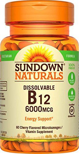 Sundown Naturals Super Potency Sublingual B12 provides you with a high potency source of this essential B Vitamin in an easy to take quick-dissolving tablet. Just place one under your tongue for 30 seconds before swallowing, and enjoy the benefits B12 is known for – supporting heart and... more details at http://supplements.occupationalhealthandsafetyprofessionals.com/vitamins/vitamin-b/vitamin-b12/product-review-for-sundown-naturals-sublingual-vitamin-b-12-6000-mcg-60-
